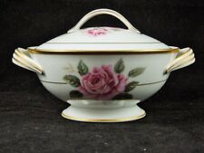 VTG Noritake China Dinnerware Lindrose Sugar Bowl and Lid