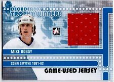 MIKE BOSSY 2011 IN THE GAME DECADES 80's TROPHY WINNERS GAME USED JERSEY