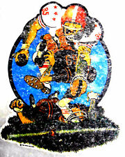 """Vintage 1974 The Rat's Hole """" CRAZED FOOTBALL PLAYER"""" Iron-on Transfer"""