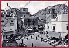 NAPOLI CAPRI 45 PERUGINA - SARTORIA - PHOTO WHITE Cartolina viaggiata 1956