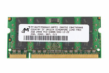 Micron NEW DDR2 2GB RAM 2Rx8 PC2-5300S 667Mhz 200pin SO-DIMM For Laptop Memory