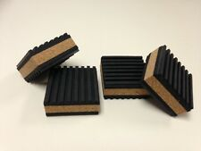 Audiophile Cork/Rubber Isolation Pads/Isoblocks (One (1) set of four (4) pads)