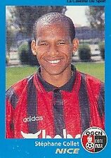 N°269 STEPHANE COLLET OGC.NICE VIGNETTE PANINI FOOTBALL 96 STICKER 1996