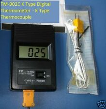 TM-902C Digital LCD Type K Thermometer Single Input Probe K type Thermocouple
