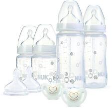NUK FLASCHENSET 0-6 Monate Babyflaschen/Fläschchen Starter-Set Zubehör NEU