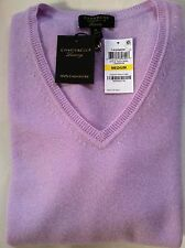 NWT Womens Charter Club Light Purple Luxury 100% Cashmere V-Neck Sweater Medium