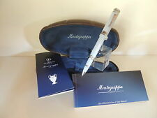 MONTEGRAPPA UEFA CHAMPIONS LEAGUE SPECIAL EDITION GRAY ROLLERBALL PEN, NEW .
