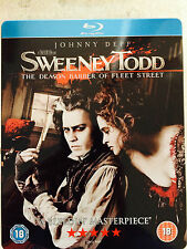 Johnny Depp SWEENEY TODD ~ 2007 Tim Burton | Rare UK Blu-ray Steelbook