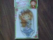 Brand New Wild rose studio Clear Stamp Cherry Cupcake (CL161- Mia With Kitten)