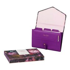 Ted Baker Purple Shadow Flora Travel Documents Holder 19 x 26.5cm with pen
