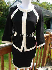 NWT BETSEY JOHNSON RARE TUXEDO PONTE 2 PIECE SUIT JACKET & SKIRT~4 **SALE**