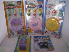 TOMY 3pkts POKEMON MATE POCKET MONSTERS + MONSTERS INC MASCOT STAMP + ZOIDS