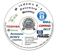 Password Recovery | Reset CD for Microsoft Windows 8.1 - Auto Boot Unlock Disc