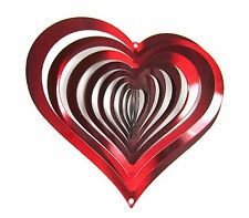 "Shipityourway 6.5"" 3D Wind Spinner Red Heart Valentines Day Gift Love Yard Art"