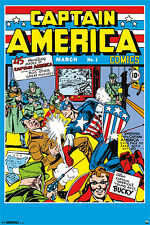 POSTER: CAPTAIN AMERICA #1 (March 1941) Marvel Comics Cover Poster