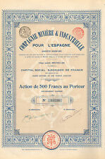 Compagnie Miniere & Industrielle pour l' Espagne SA, accion, 1903