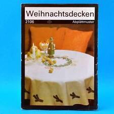Weihnachtsdecken   Abplättmuster   Verlag für die Frau # 2106   DDR 1987 Sticken