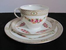 Pretty Edwardian/Victorian English Bone China Trio Cup Saucer and Tea Plate