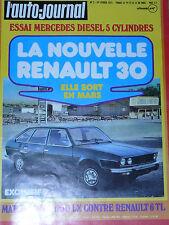 L'AUTO JOURNAL 1975 2 RALLYE MONTE CARLO MERCEDES 240 D 3.0 R6 TL SIMCA 1100 LX