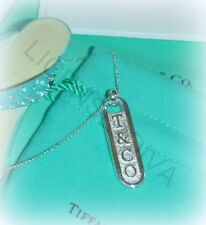 "TIFFANY & CO. ""T & CO BAR NECKLACE! STERLING SILVER! ESTATE! MINT CONDITION!"