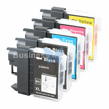 5 PK LC61 Ink for Brother MFC-J630W MFC-J615W MFC-J415W MFC-J410W MFC-J270W