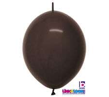 "10ct. DELUX BROWN  Link-o-Loon 12"" Latex Helium Linking Balloons ARCHES ARBORS"