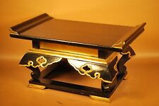 Japanese Buddhist Butsudan Altar Stand / Gold Mackie / Carved Lacquered Wood