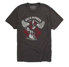 Lucky Brand - Mens XXL - NWT - Black Acey Duecey Rock-N-Poker Gambling T-Shirt