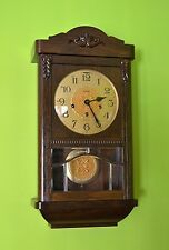 VINTAGE LINDEN/ CUCKOO CLOCK MFG CO. WESTMINSTER CHIME WALL CLOCK. SERVICED