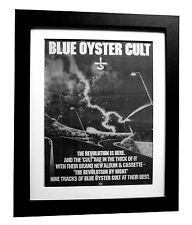 BLUE OYSTER CULT+Revolution+POSTER+AD+RARE ORIG 1983+FRAMED+EXPRESS GLOBAL SHIP