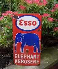 Esso Elephant Enamel Sign Kerosene Large rare Free Post 60 x 30 cm Stunning sign