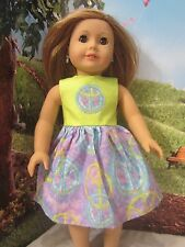 """homemade 18"""" american girl/madame alexander peace sign dress doll clothes"""