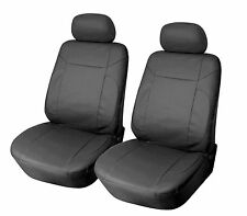 Leather Like 2 Front Car Seat Covers for GMC 153 Black