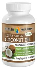 Organic Coconut Oil - Extra Virgin 3000mg - Coconut Oil for Hair - 60 Capsules