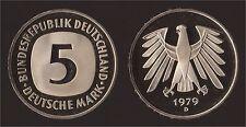 GERMANIA GERMANY 5 MARK 1979 D PROOF FDC/UNC FIOR DI CONIO