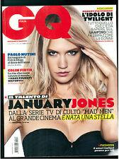 GQ ITALIA 118 LUGLIO 2009 JANUARY JONES COLIN FIRTH PAOLO NUTINI ROBERT PATTISON