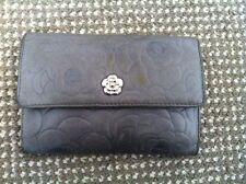 Chanel Camellia Wallet / Purse in Grey Lamb Skin Leather - Made in Italy