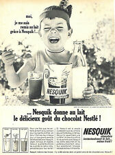 PUBLICITE ADVERTISING 015  1965  NESQUICK  2  petit déjeuner chocolaté de NESTLE