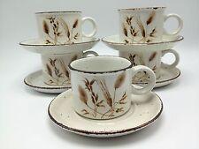 Stonehenge Midwinter Wild Oats Set 10 5 cups mugs saucers England Wedgwood