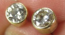 Bezel Set 1/2 ct. tw Diamond Stud Earrings 14k Yellow GOLD