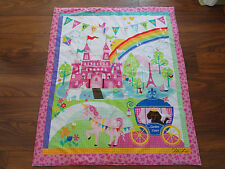 Handmade/ Homemade Baby Quilts-  Princess Castle