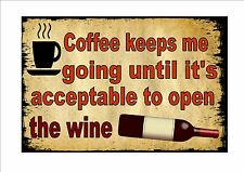 Funny Quotes Red Wine Novelty  Metal Door Wall Sign Kitchen Sign Pub Sign