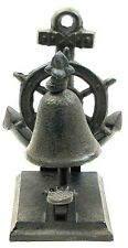 CAST IRON ANCHOR TABLE BELL Collectible Tabletop Nautical Gift Decor NEW