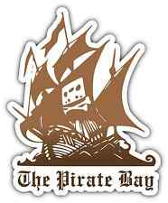 "The Pirate Bay Brown Car Bumper Window Locker Sticker Decal 4""X5"""