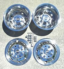 "Ford E350 E450 RV Motorhome 16"" 92-07 Stainless Dually Wheel Simulators BOLT ON"