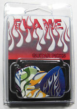 """FLAME"" Guitar Pick Pack, 6 Picks .71mm Clamshell, pics plectrums, Fire Flames"