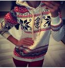 Women's christmas Winter Hoodie Sweatshirt Jumper Sweater Hooded  Pullover Top