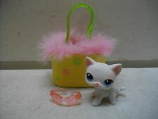 LITTLEST PET SHOP LPS CAT #64 PORTABLE PETS W/CARRIER CARRY CASE RARE COMPLETE