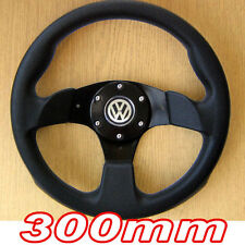 300mm Black Sports Steering Wheel for VW Golf mk1 mk2 mk3 mk4 GTI T4 Polo 6n 6n2