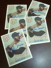 Monte Irvin Signed 1992 Front Row Giants Baseball Card Autograph Auto'd HOF 1973